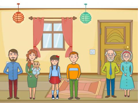 «Семья», бесплатное пособие для лексических тем