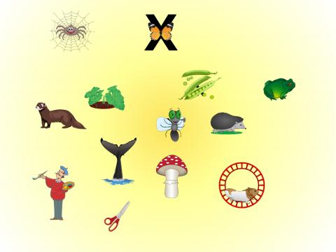«Спасение бабочки», бесплатное пособие для букв, азбуки