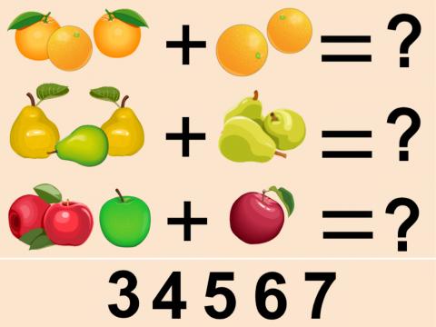«Вкусные примеры», бесплатное пособие для математики, счета