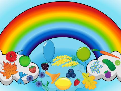 «Все цвета радуги», бесплатное пособие для логики, мышления, внимания