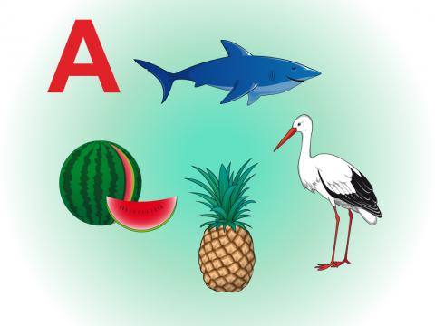 «Звук и буква А», бесплатное пособие для звукового анализа слова