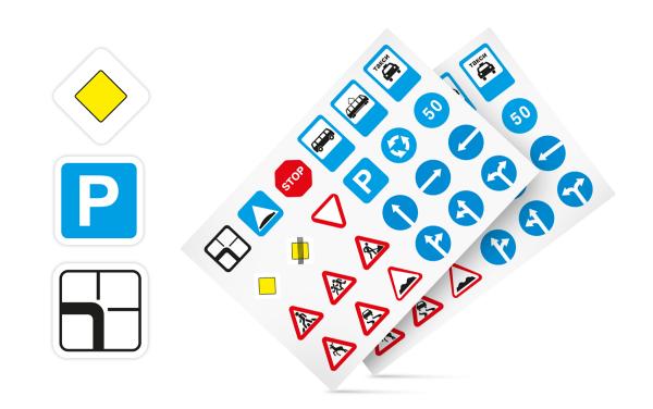 Набор дорожных знаков для ленты-дороги