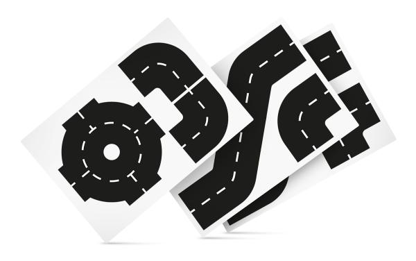 Набор поворотов для ленты-дороги